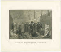 Jøder paa Klagepladsen i Jerusalem