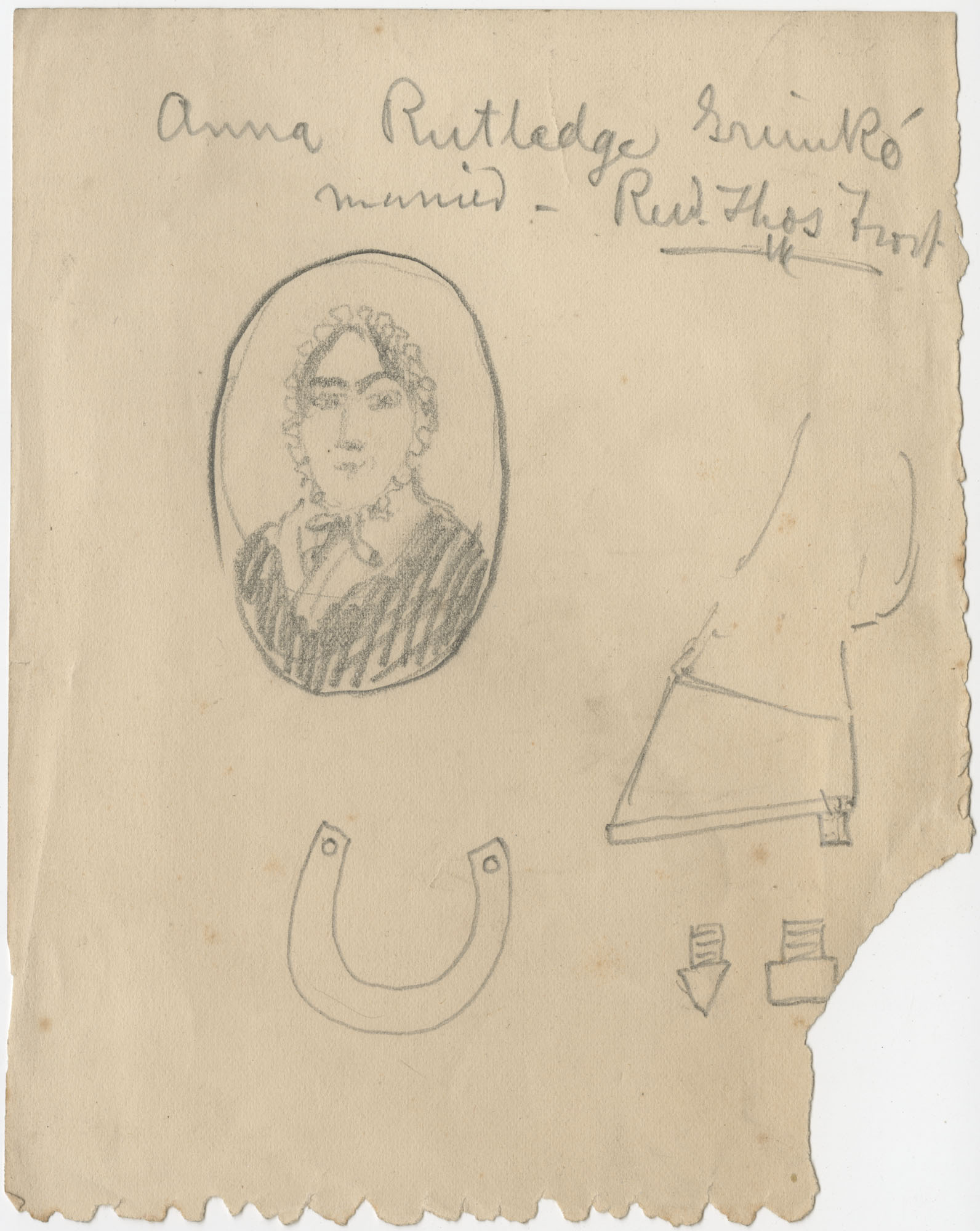 Drawing, possibly of Anna Rutledge Grimke Frost, undated
