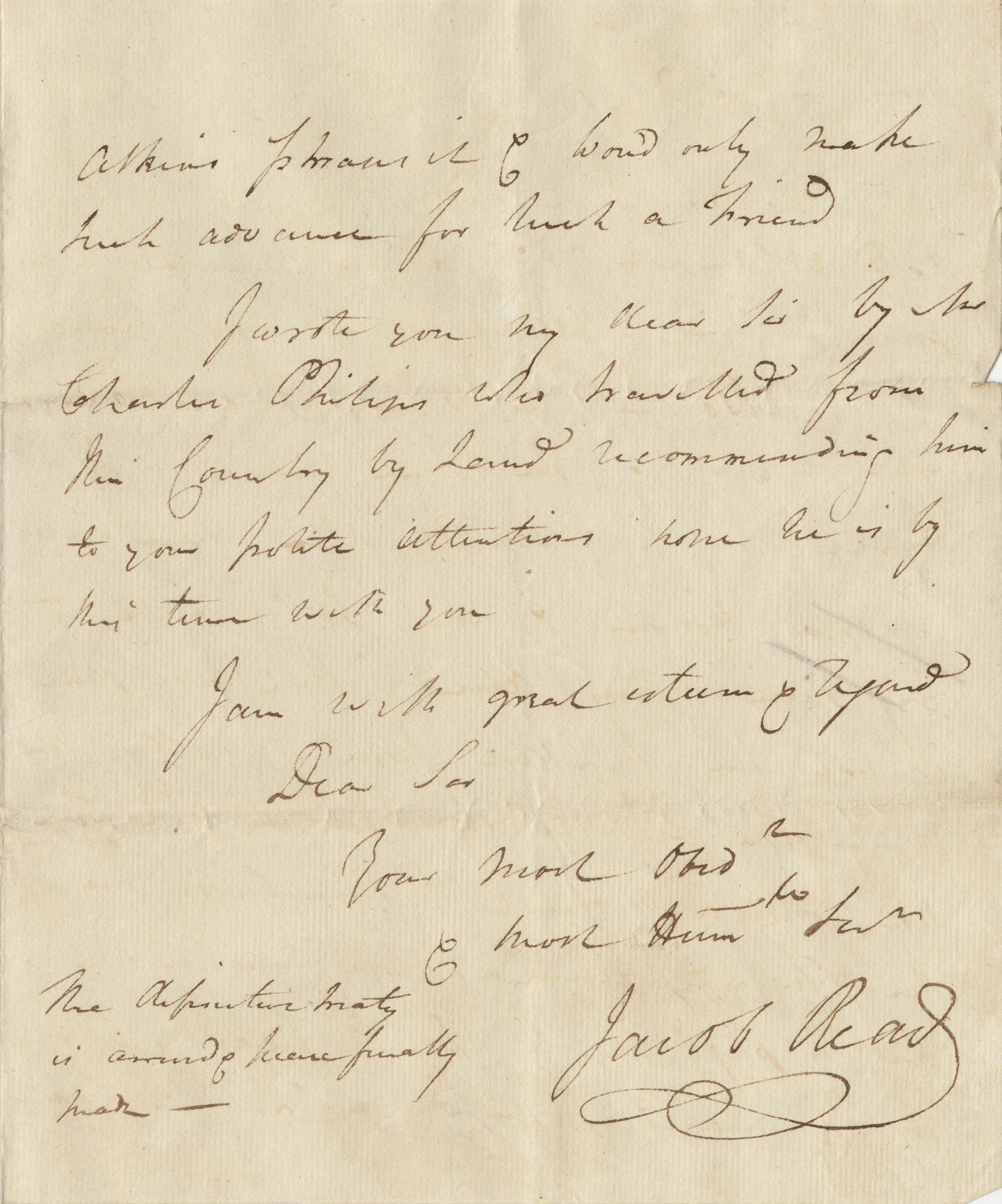 Letter from F. [Francis?] Pinckney to John F. Grimke