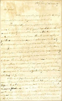 Letter from Thomas Farr to Nathanael Greene