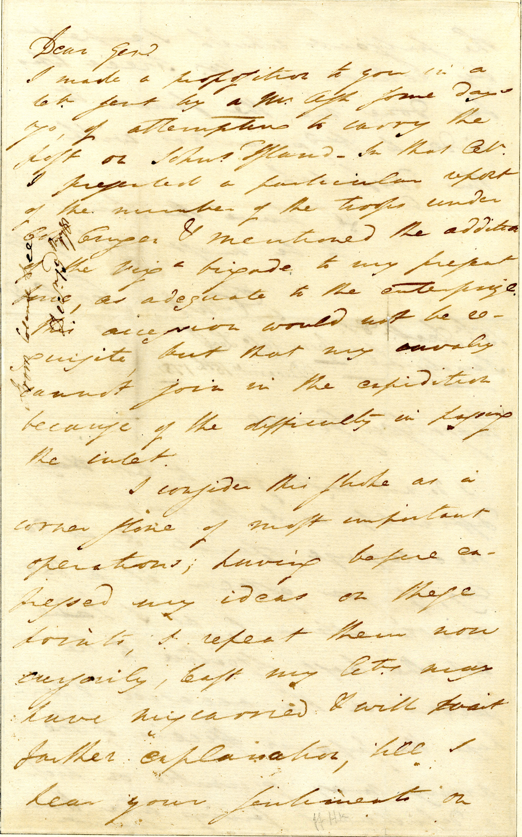 Letter from Henry Lee to Nathanael Greene