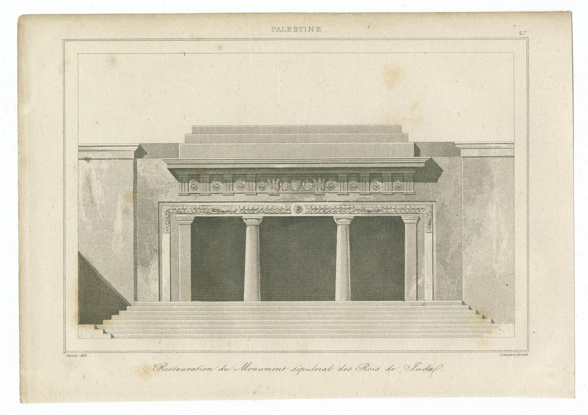 Restauration du Monument sépulcral des Rois de Juda
