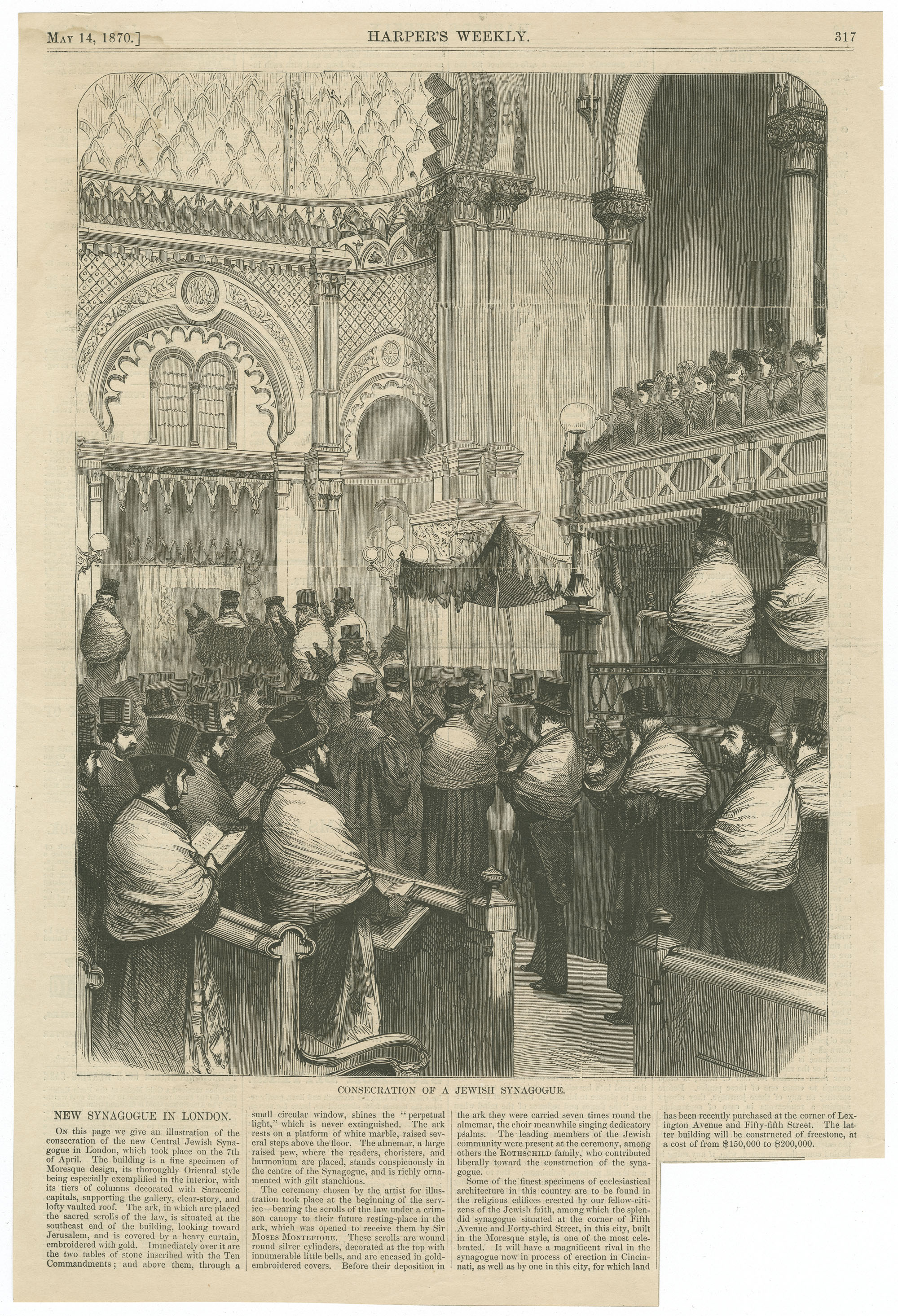 Consecration of a Jewish Synagogue