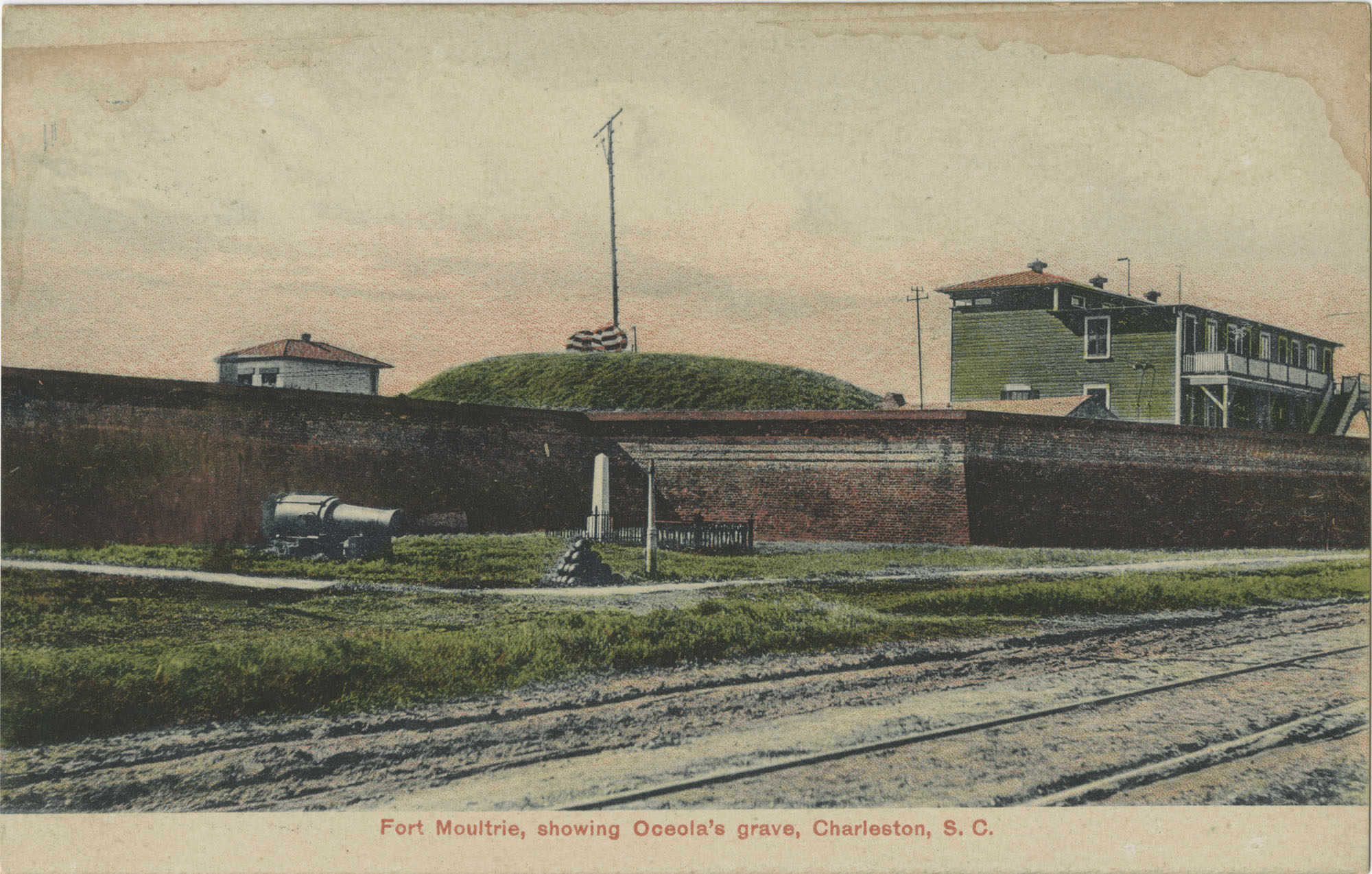 Fort Moultrie, showing Oceola's grave, Charleston, S.C.