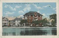 Colonial Lake, showing Baker Sanitorium, Charleston, S.C.