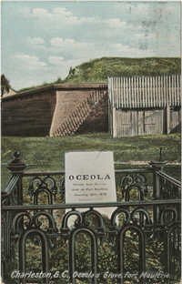 Charleston, S.C., Oceolas Grave, Fort Moultrie