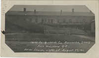 16th Co. & 144th Co. Barracks, (rear) Fort Moultrie, S.C., Ater Storm, Night of August 27, 1911.