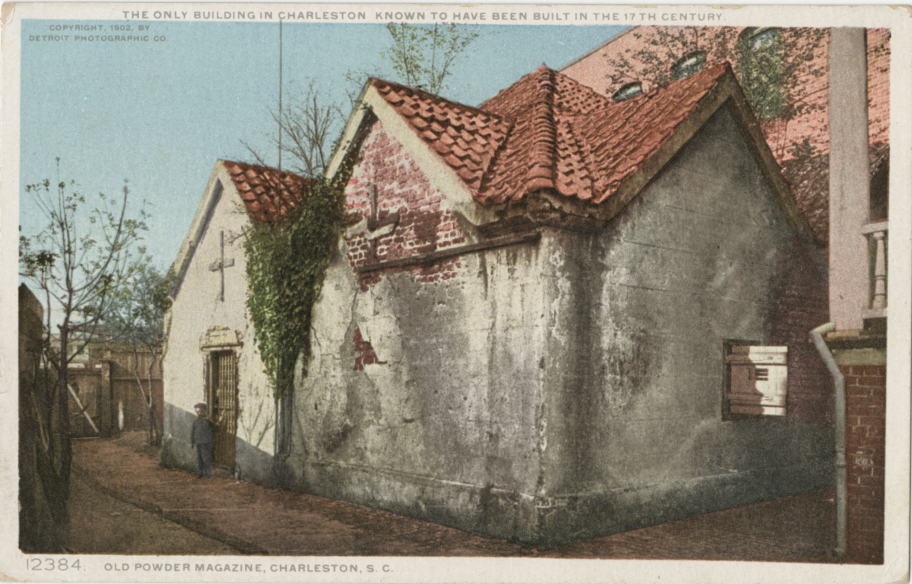 The only building in Charleston known to have been built in the 17th century. Old Powder Magazine, Charleston, S.C.