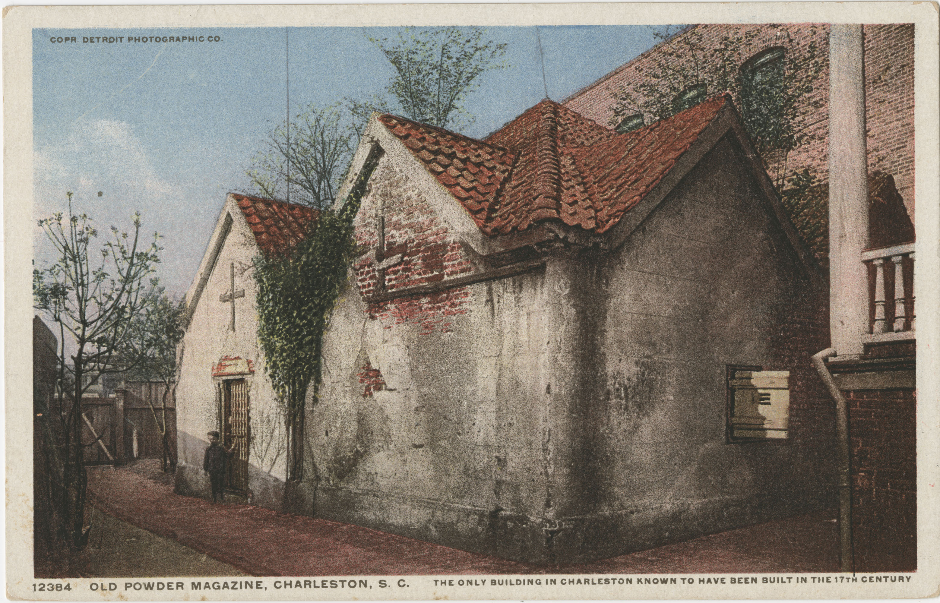 Old Powder Magazine, Charleston, S.C. The only building in Charleston known to have been built in the 17th century