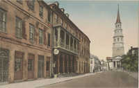 Dock Street Theatre and St. Phillip's Church, Charleston, South Carolina
