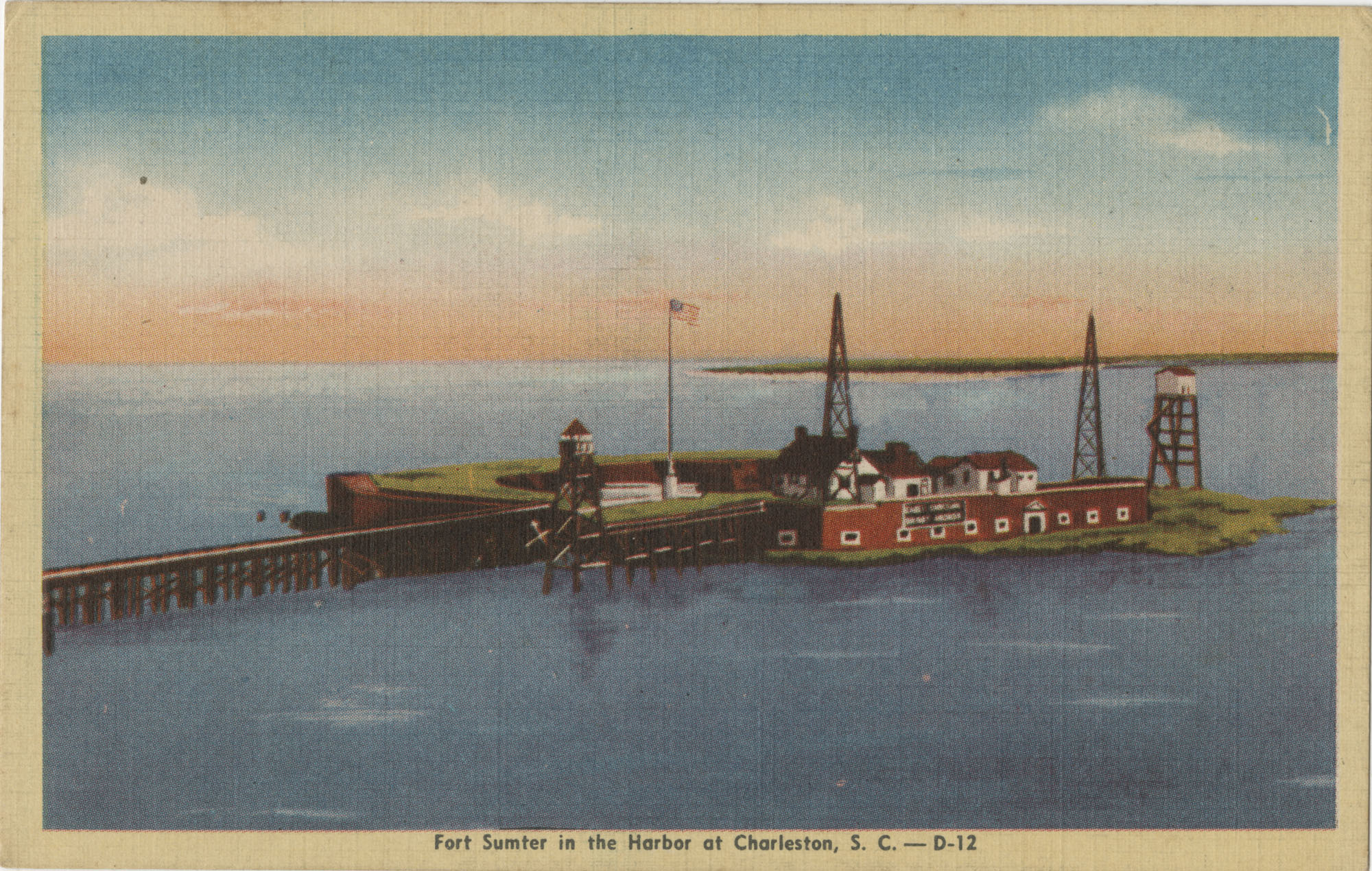 Fort Sumter in the Harbor at Charleston, S.C.