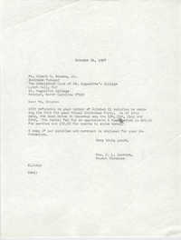 Letter from Christine O. Jackson to Albert N. Brooks, Jr., October 24, 1967
