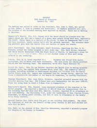 Minutes, Coming Street Y.W.C.A. Board of Directors, January 20, 1967