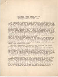 Monthly Report for the Coming Street Y.W.C.A., March 1939