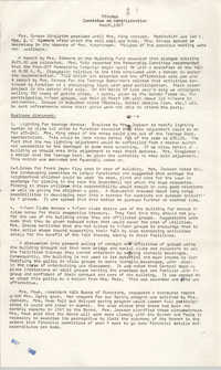 Minutes, Coming Street Y.W.C.A. Board of Directors, March 1967