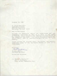 Letter from Dorothy Jenkins to Janice Washington, NAACP, November 15, 1989