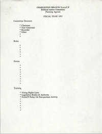 Planning Agenda, Political Action Committee, National Association for the Advancement of Colored People, Fiscal Year 1993
