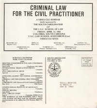 Criminal Law for the Civil Practitioner, Video/CLE Seminar Pamphlet, April 12, 1985, Russell Brown