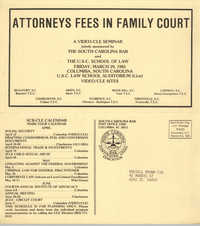 Attorney Fees in Family Court, Video/CLE Seminar Pamphlet, March 29, 1985, Russell Brown