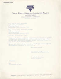 Letter from Mrs. Joseph King and Christine O. Jackson to Mrs. John C. Hawk, December 11, 1967