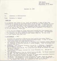 Coming Street Y.W.C.A. Memorandum, December 15, 1967