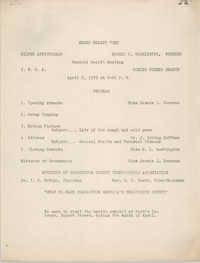 Negro Health Week Program, April 5, 1939