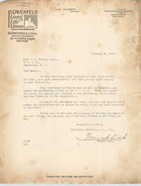 Letter from Goldsmith, Lowenfels and Co., Inc. to Ada C. Baytop, February 8, 1923