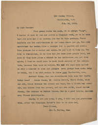 Letter from Ada C. Baytop, February 28, 1923