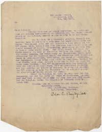 Letter from Ada C. Baytop, February 19, 1923
