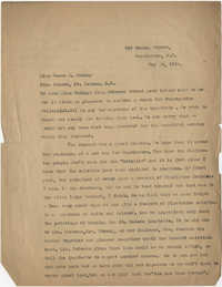 Letter from Ada C. Baytop to Rossa B. Cooley, May 26, 1922