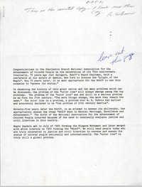 Speech, Reinhardt G. Brown, August 26, 1991