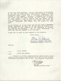 Response from R.M. Jackson, Letter from William A. Glover to Friend, May 6, 1987