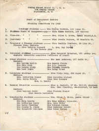 Board of Management Members and Standing Committees for 1936