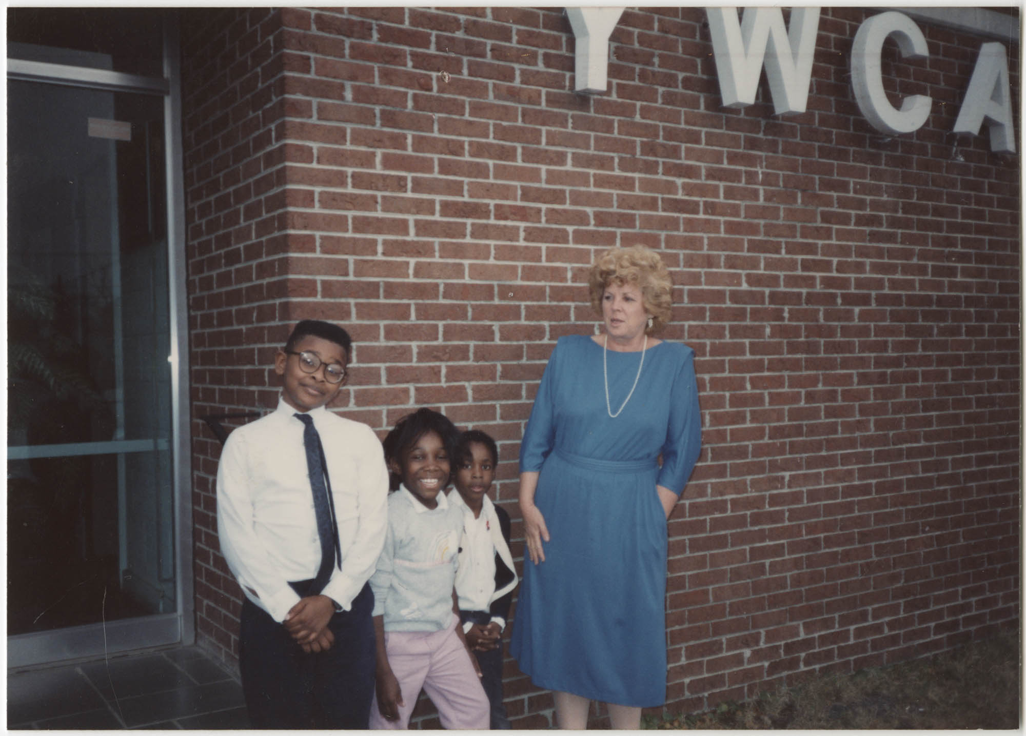 Photograph of Three Children and a Woman