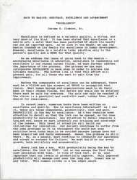 Draft, Speech, Jerome R. Clemons, Sr.