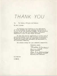 Letter from Mrs. F. Perry Metz and Christine O. Jackson, November 20, 1966
