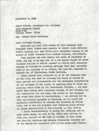 Letter from Reginald C. Barrett Jr. to Chris Milner, September 6, 1985