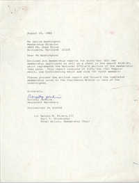 Letter from Dorothy Jenkins to Janice Washington, NAACP, August 15, 1989