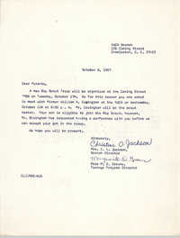 Letter from Christine O. Jackson and Marguerite D. Greene to Parents, October 6, 1967