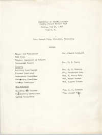 Agenda, Coming Street Y.W.C.A. Committee on Administration, May 15, 1967