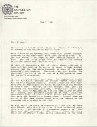 Letter from William A. Glover to Friend, May 6, 1987