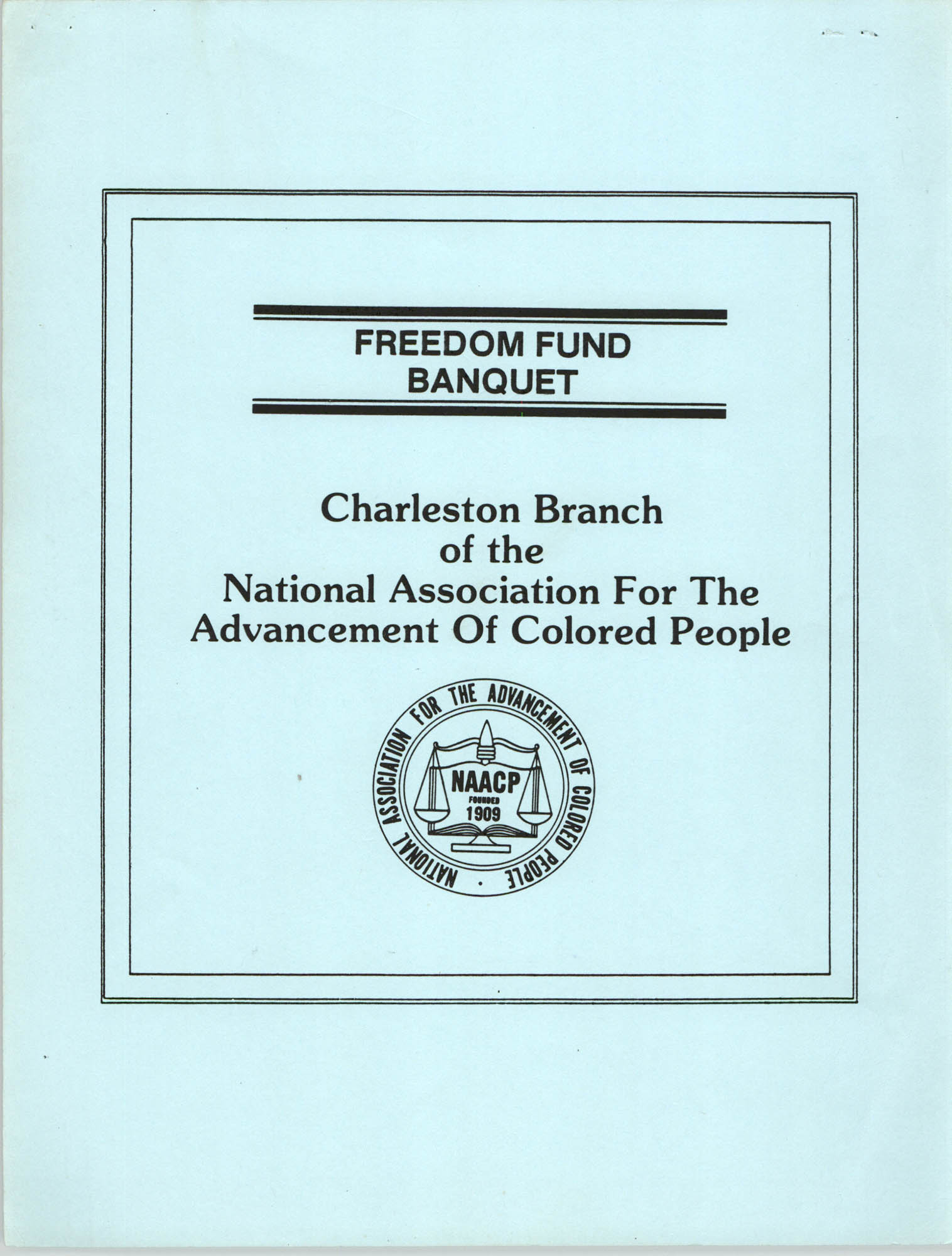 Flyers, 1990 Freedom Fund Banquet, Charleston Branch of the NAACP