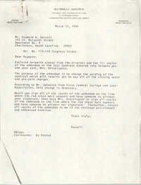Letter from Russell Brown to Raymond W. Barrett, March 12, 1985