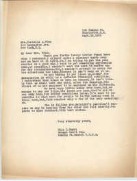 Letter from Ella L. Smyrl to Cordella A. Winn, September 12, 1932