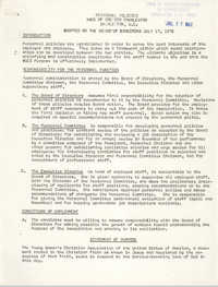 Personnel Policies, Y.W.C.A. of Greater Charleston, July 17, 1972