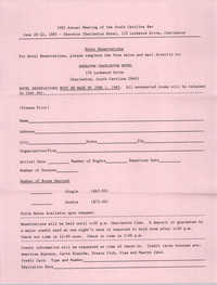 1985 Annual Meeting of  the South Carolina Bar, Registration and Seminar Forms