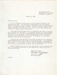 Letter from Christine O. Jackson, August 26, 1966