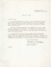 Letter from Christine O. Jackson, August 25, 1966