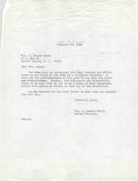Letter from Anna D. Kelly to A. Brewer Woods, February 23, 1966