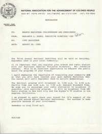 Memorandum, Benjamin L. Hooks, August 24, 1990